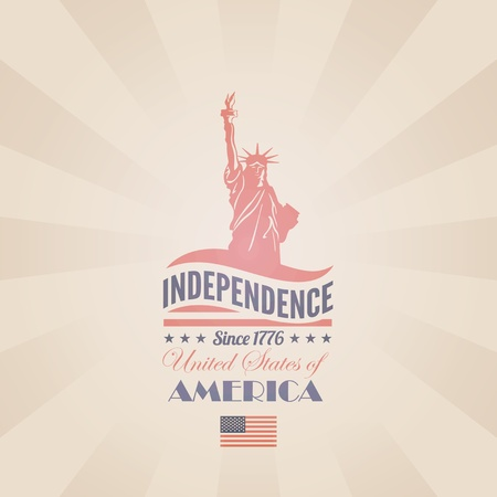 USA Independence day poster retro design template  4th of July celebration  American National holiday  Concept  Editable  Vector