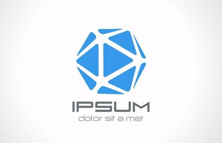 Crystal abstracte logo template Sieraden conceptenpictogram Gem symbool Bewerkbare
