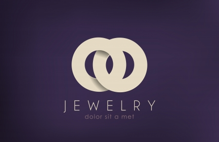 fashion jewelry: Jewelry vector logo design template  Jewellery fashion concept  Jewelery rings wedding idea  Luxury symbol  Stylish sign  Creative icon  Illustration