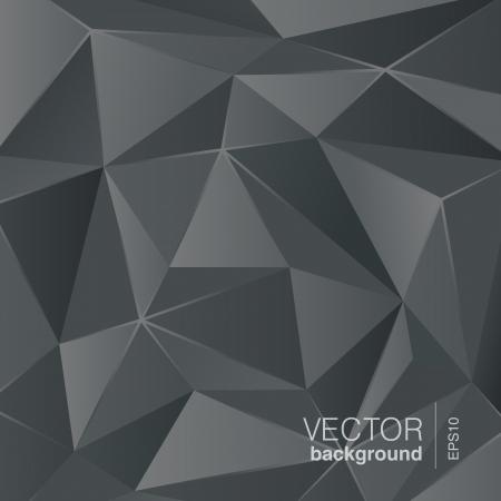 dark: Dark grey background abstract polygon triangle style  Vector Illustration