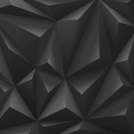 carbone: Le carbone noir abstrait polygone mode luxe Illustration
