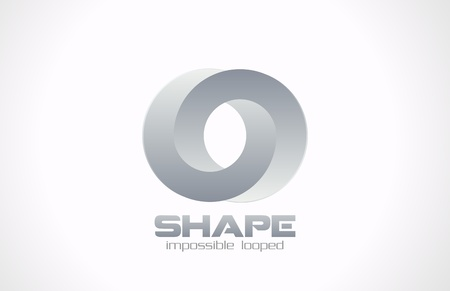 looped shape: Fashion jewelry impossible looped vector