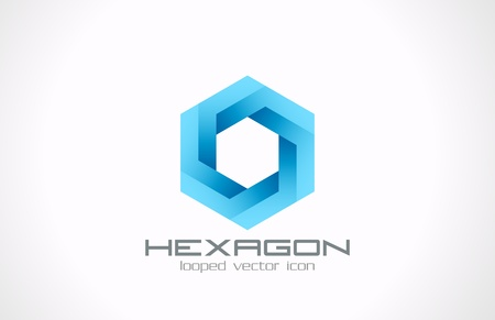 looped: Hexagon bucle vectorial