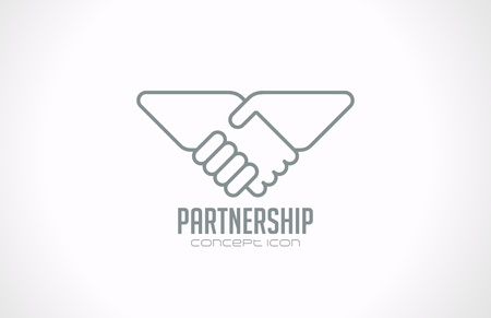 technology deal: Handshake vector