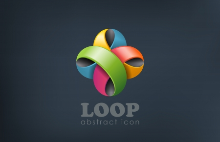 looped: Flor abstracta bucle vectorial Vectores