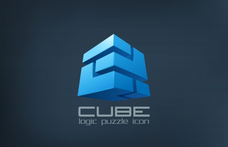 cube puzzle: Tecnolog�a Cube abstract vector
