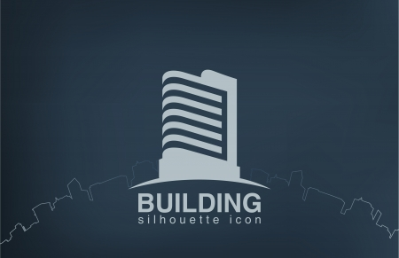 building: Abstract architecture building silhouette vector  Illustration