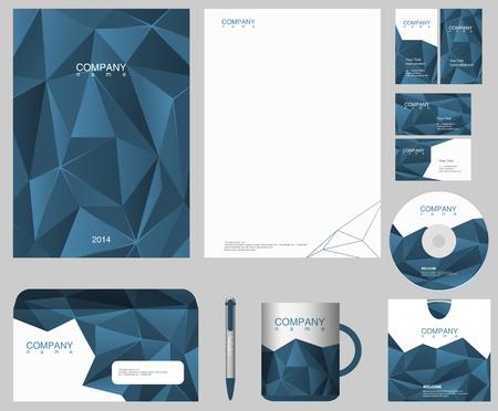 carta identit�: Modello di progettazione corporate identity Vettoriali