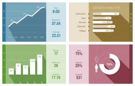 Infographics vector design template
