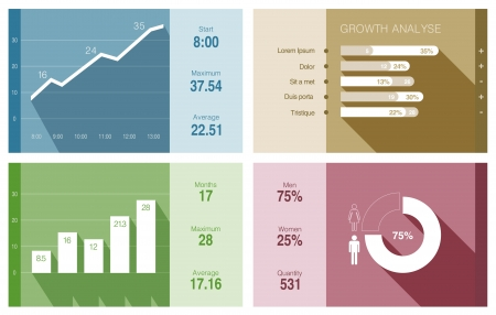 infomation: Infographics vector design template