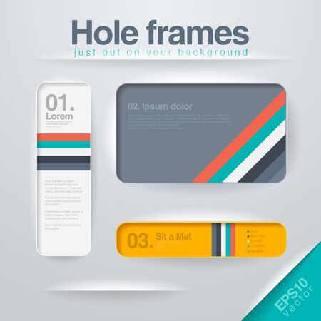 Vector design Frames template   Vector