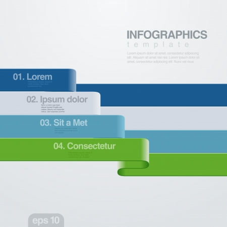 Infographics vector design template   Vectores