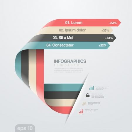 Infographics ontwerpsjabloon Creative trendy lint vlakke stijl