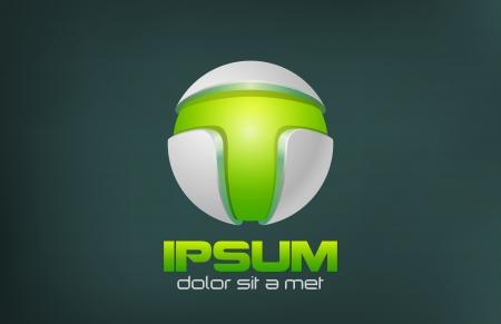scifi: Green Technology Abstract design template  Sci-fi, bio, organic, eco symbol  Future Ecology concept icon