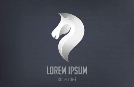 Horse metallic abstract vector  Creative design emblem  イラスト・ベクター素材