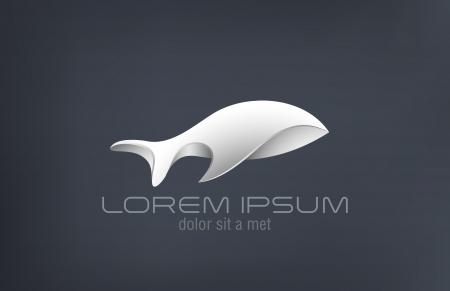 Mode Luxus Schmuck-Metall Fisch abstrakte Vektor-Logo-Design-Vorlage Silber Schmuck Kreativ Konzept Symbol Stahlrautenform Symbol Standard-Bild - 23884497