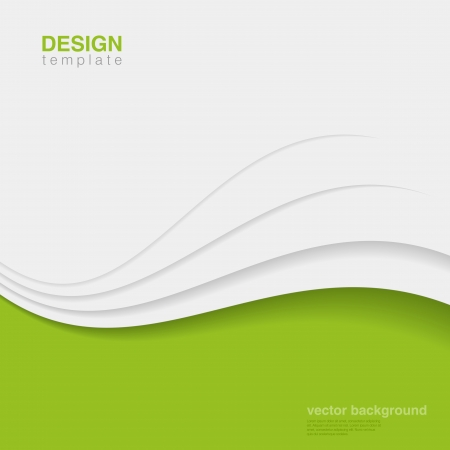 green lines: Business innovation vector design template  Green eco style  Ecology Background abstract  Corporate identity style