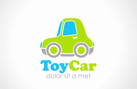 Toy car design template  Creative small fun micro machine  Mini city transport funny concept icon  Vector