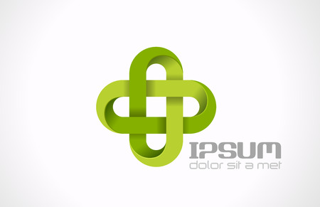 medicamentos: Farmacia cruz plantilla de dise�o abstracto verde Medicina, Salud, icono concepto creativo eco s�mbolo Farmac�utica