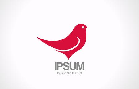 sparrow bird: Bird Sitting abstract vector design template  Red sparrow sitting