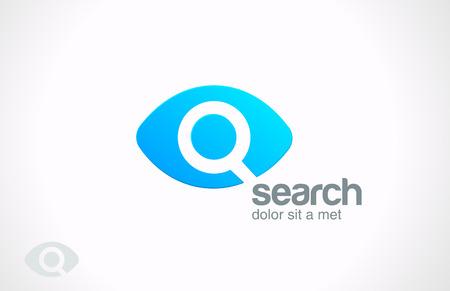 Zoekmachine dienst vector ontwerpsjabloon Searching Eye Stock Illustratie