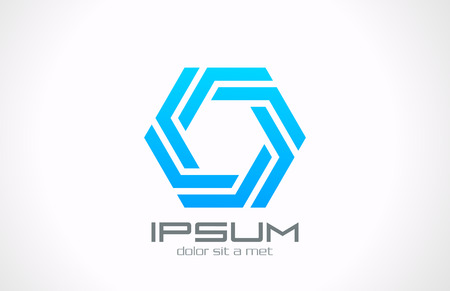 shape: Octagon boucle Logo vecteur de création modèle de conception Infinity boucle icône Business Technology boucle infinie forme