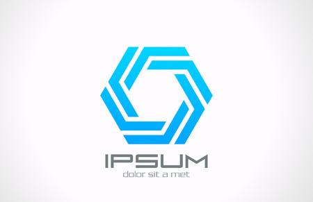 gestalten: Octagon geschleift Logo kreative Vektor Entwurfsvorlage unendlichen Schleife Symbol Business Technology geschleift Infinite Shape
