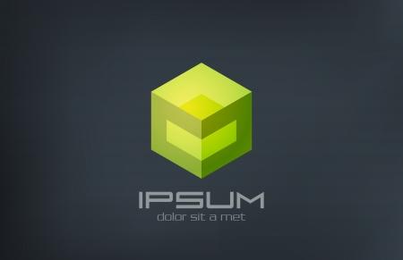 aziende: Cube sci-fi vettore astratto modello di logo design Gaming Technology concept icon