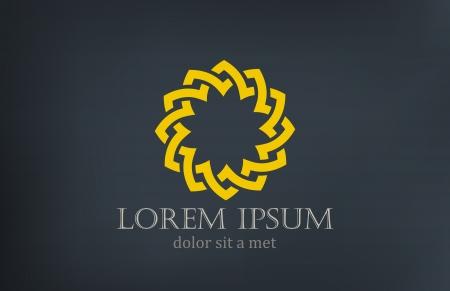 schleife: Stern-Blumen-Abstrakt-Symbol-Design-Vorlage geschliffen unendlich Form Kreatives Design Schleife unendlich Konzept
