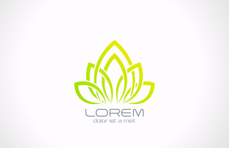 SPA Healthcare Eco Flower icon design template  Health green ecology creative symbol  Flourish abstract nature sign  Vettoriali