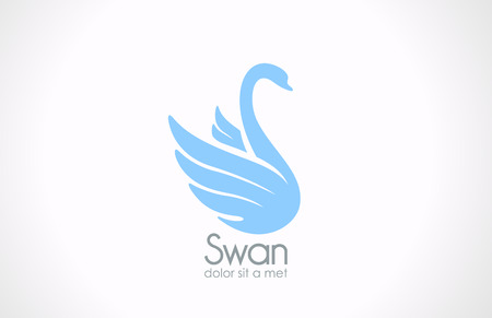 cisnes: Swan silueta de aves Logo plantilla de vectores icono de diseño elegante símbolo de concepto para Cosméticos, spa, salud, moda, etc Vectores
