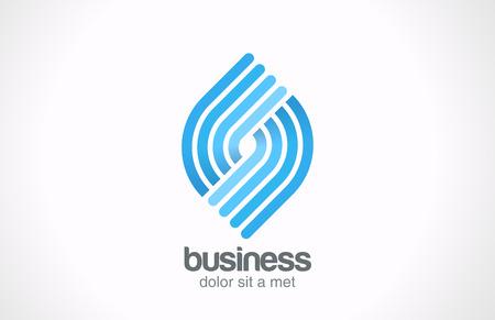摘要商業科技螺旋形標誌矢量圖標設計模板週期循環圖無限大符號