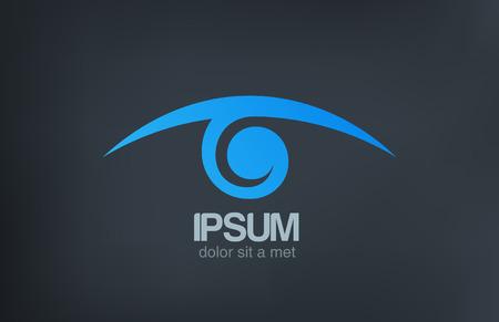 logotipos de empresas: Logotipo de la visi�n del ojo plantilla vector dise�o de icono �ptica Oculista signo Search, esp�a, detective, investigaci�n, s�mbolo Oftalm�logo