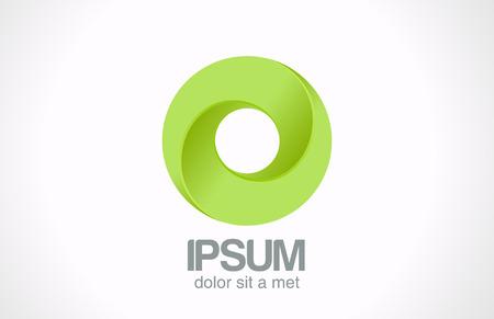 루프 서클 추상 아이콘 디자인 템플릿의 무한대 녹색 로고는 무한 루프 모양 기부