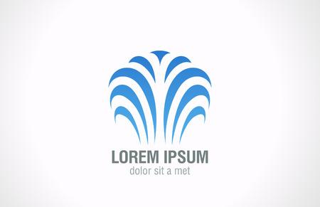 Abstrait affaires immobilier concept de symbole logo vecteur modèle de conception de l'icône de l'immobilier d'entreprise signe Logo