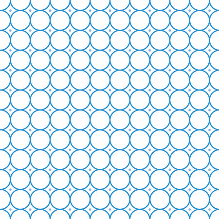 tiling: Circle Seamless pattern Abstract vector. Tiling Blue white . Illustration