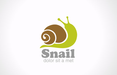 Snail cartoon fun style vector logo design  Creative design funny concept icon  Vector