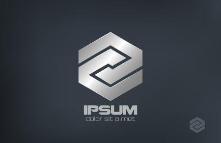 signo infinito: Rhombus del metal abstracto vector corporativa símbolo de infinito diseño del logotipo de negocios Plata bucle forma infinita signo bucle Icono Corporativa