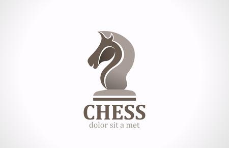 Silhouette vecteur de forme club d'échecs de cheval modèle de conception de logo icône Banque d'images - 27018841