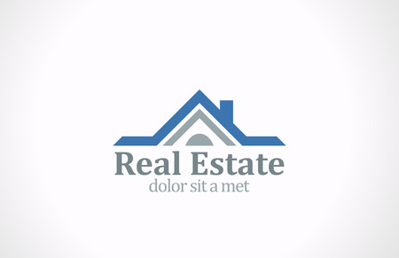 Real Estate vector logo design  House abstract concept icon Realty construction architecture symbol  Illustration