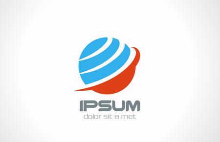 logo terre: Plan�te terre mondial vecteur de r�seau abstrait logo mod�le de conception r�seau de communication Internet notion ic�ne cr�ative