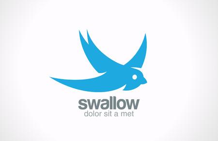 鳥抽象的なベクトルのロゴのデザイン創造的な概念シンボル アイコンを飲み込む  イラスト・ベクター素材