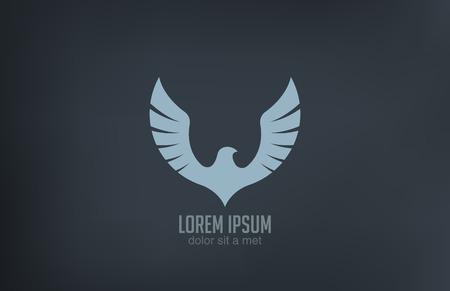 bird: 새의 날개 추상적 인 벡터 로고 디자인 럭셔리의 상징 개념 아이콘
