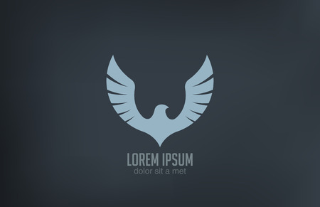 Bird wings abstract vector logo design  Luxury emblem concept icon  Vector