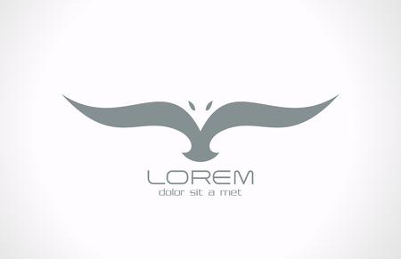 Resumen de aves siluetas vector diseño del logotipo de Flying bird icon Vectores