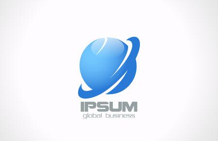 weltweit: Global Corporate Business abstract Vektor-Logo-Design-Vorlage Jupiter, Erde, Planeten, Symbol Technologie Weltweit Konzept Internet-Reise Idee innovative L�sungen