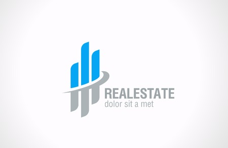 Real Estate vector logo design  Realty abstract symbol Business Corporate sign  Financial Stock Exchange concept  Vector