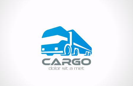 transportation: Cargo Truck logo vettoriale servizio di progettazione di consegna concetto dell'icona del trasporto commerciale