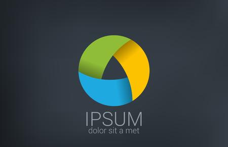 laço: Círculo laço infinito vetor modelo de design de logotipo em loop infinito forma Triplo ícone conceito ícone Ilustração