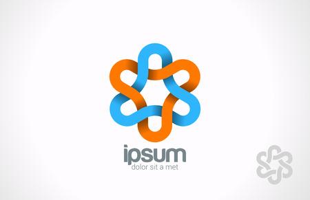 schleife: Blumen-Schleife unendlich Vektor-Logo-Design-Vorlage Triangle geschleift unendliche Form Impossible kreative Konzept-Symbol
